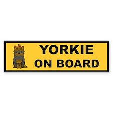 Yorkie on Board Bumper Bumper Sticker