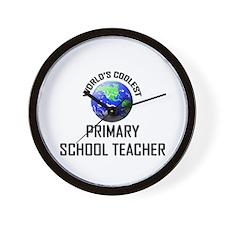 World's Coolest PRIMARY SCHOOL TEACHER Wall Clock