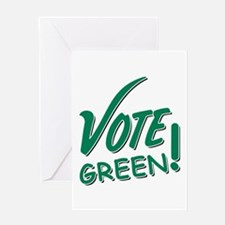 """Vote Green"" Greeting Card"