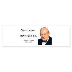 Winston Churchill 3 Bumper Bumper Sticker