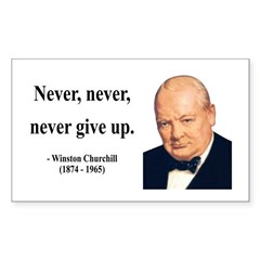 Winston Churchill 3 Rectangle Decal