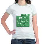Portland Buttzville PA Exit S Jr. Ringer T-Shirt