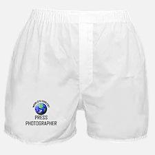 World's Coolest PRESS PHOTOGRAPHER Boxer Shorts