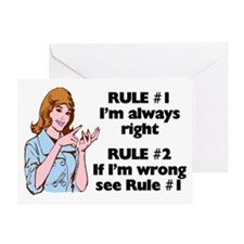 The Rules Greeting Card