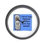 i did NOT have TEXTUAL relations Wall Clock