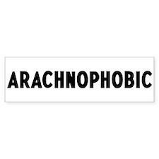 arachnophobic Bumper Bumper Sticker