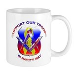 Masonic Support our Troops Mug