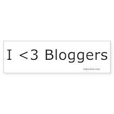 I <3 bloggers Bumper Bumper Sticker