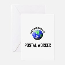 World's Coolest POSTAL WORKER Greeting Cards (Pk o