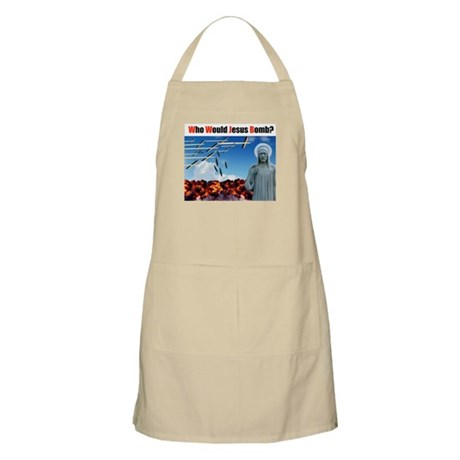 """""""Who Would Jesus Bomb?"""" BBQ Apron"""