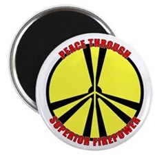 """Peace Through Nuclear Weapons 2.25"""" Magnet (10 pac"""