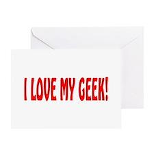 my geek Greeting Card