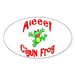 Cajun Frog Oval Decal