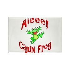 Cajun Frog Rectangle Magnet