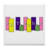 Physical education teacher Tile Coasters