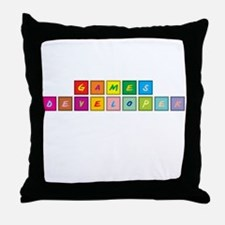 Games Developer Throw Pillow