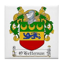 O'Heffernan Family Crest Tile Coaster