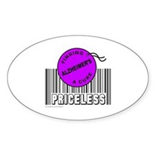 ALZHEIMER'S FINDING A CURE Oval Decal