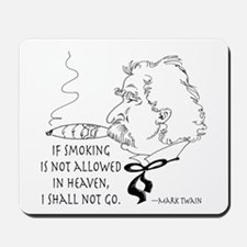 Cigar Smoker Mark Twain Quote Mousepad