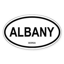 Albany, Georgia Oval Decal