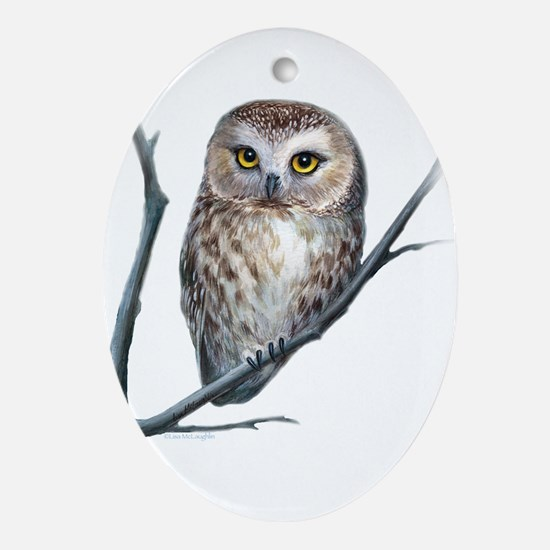 little owl Ornament (Oval)