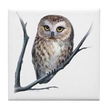 little owl Tile Coaster