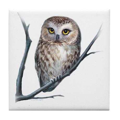 little owl Tile Coaster