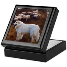 "Great Pyrenees Keepsake Box ""FlockGuard"""