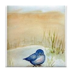 Blue Bird Tile Coaster