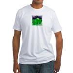 HAPPY 4TH OF JULY FROGS Fitted T-Shirt