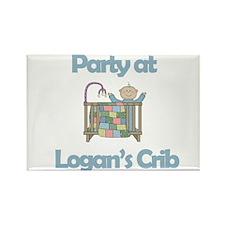 Party at Logan's Crib Rectangle Magnet