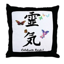 Celebrate Reiki Throw Pillow