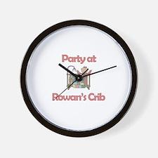 Party at Rowan's Crib Wall Clock