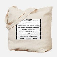 Unity Poem Tote Bag
