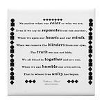 Unity Poem Tile Coaster