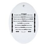 Unity Poem Oval Ornament