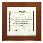 Unity Poem Framed Tile