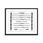 Unity Poem Framed Panel Print