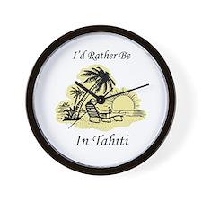 I'd Rather Be In Tahiti Wall Clock