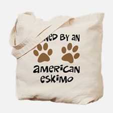 Owned By An American Eskimo Tote Bag