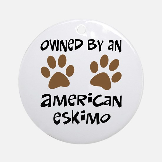 Owned By An American Eskimo Ornament (Round)