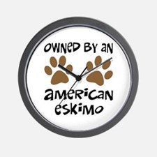 Owned By An American Eskimo Wall Clock