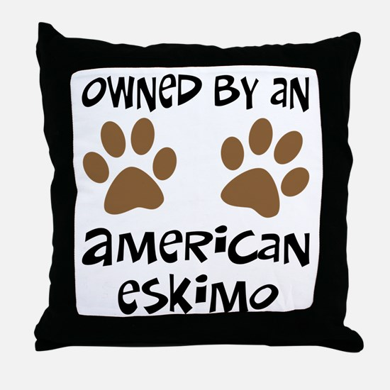 Owned By An American Eskimo Throw Pillow