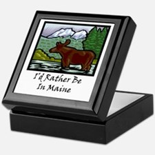 I'd Rather Be In Maine Keepsake Box