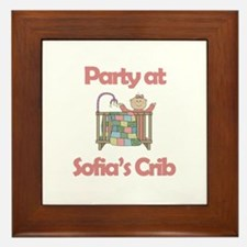 Party at Sofia's Crib Framed Tile