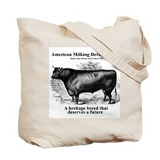 Tote Bag Milking Devon Cattle