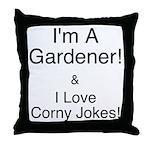 Corny Jokes Throw Pillow