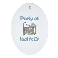 Party at Noah's Crib Oval Ornament