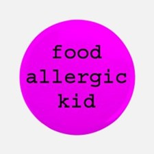 """Food Allergy 3.5"""" Button"""