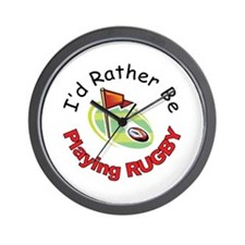 Playing Rugby Wall Clock